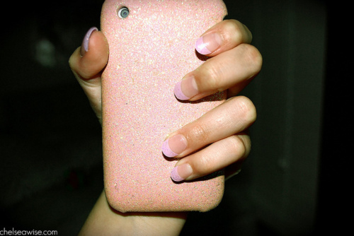 cute, glitter, iphone, light pink, nails