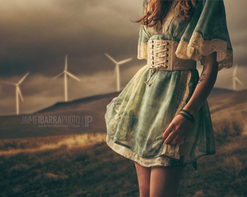 dress, fashion, girl, nature, photography, pretty, vintage, wind