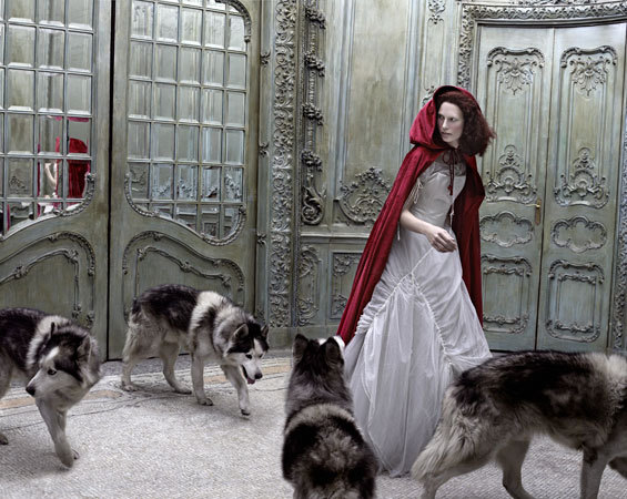 eugenio recuenco, fairy tales, fashion, red riding hood, shoot, wolves