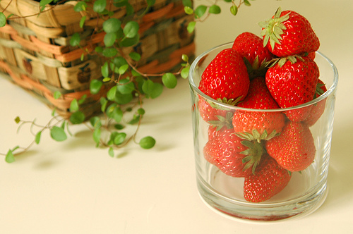 food, fruit, strawberries
