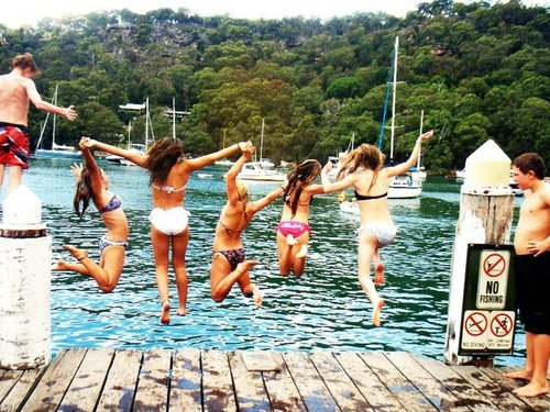 friends, jump, love, separate with comma, summer