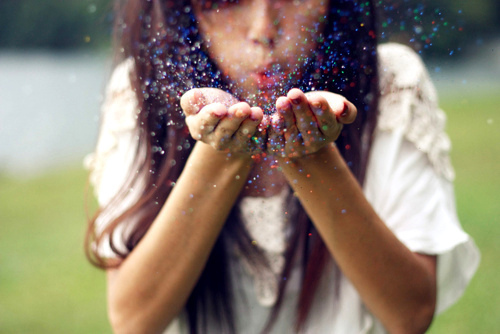 girl, glitter, hand, hands, photography