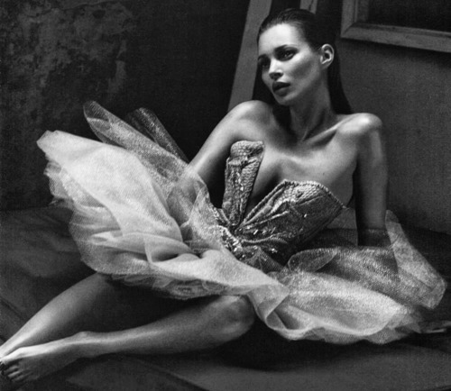 haute couture, house of worth, kate moss, tulle, vogue nippon