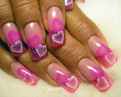 heart, manicure, nail, nails, pink