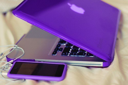 iphone, macbook, photography, purple, violet