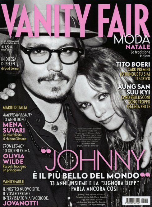 johnny depp, vanessa paradis, vanity fair