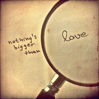 love, magnifying glass, photography, text