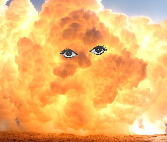 abstract, art, beautiful, bizarre, boom, clouds, hot, far out, eyes, explosion, fire, illustration, lol, collage, humor, edition, design, freak, funny, weird, eye, nelsonic, cool, sun, crisye, photoshop, smoke, imagination, surreal