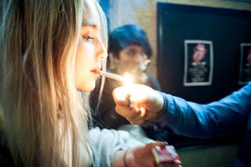 alcohol, beautiful, blonde, cigarette, eyes