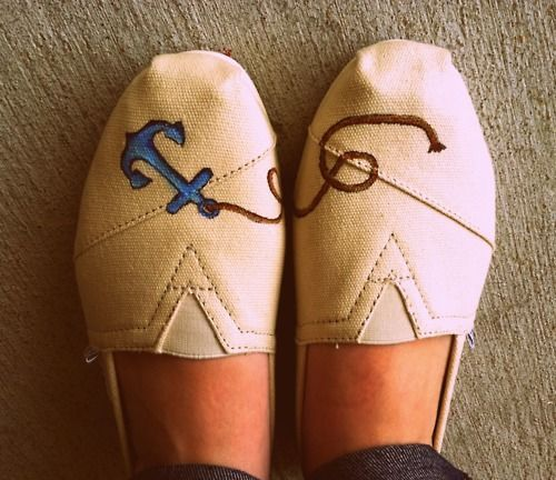 anchor, fashion, shoes, toms
