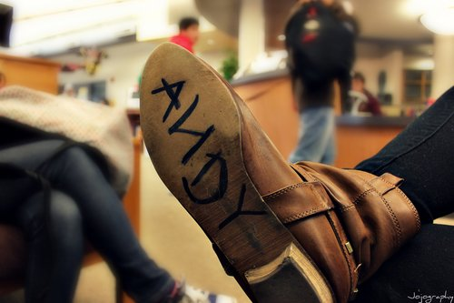 andy, boot, brown, choes, creative, girl, i love this, name, toy story