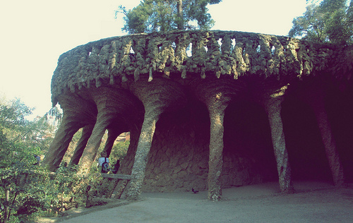 architecture, barcelona, espana, gaudi, parc guell, photography, spain, spanish, summer