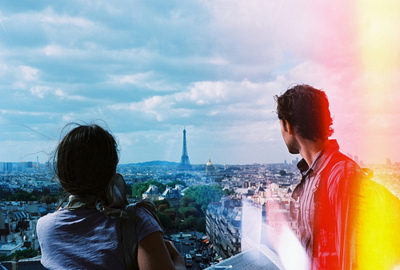 architecture, beauty, city, couple, eiffel