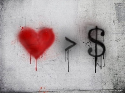 art, heart, love, love > money, money