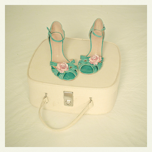bag, beige, cupidez, fashion, flower, green, heels, high heels, ivory, pearl, rose, sandals
