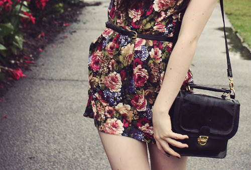 bag, belt, cute, dress, fashion