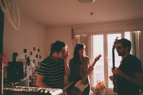 band, boy, boys, film, girl, guitar, indie, music, vintage