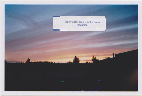 be happy, change, enjoy, happiness, happy, life, live, positive, positivity, sunset, text, try, typography, words