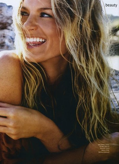 beach, beautiful, blonde, cute, girl, hair, laugh, model, natural, perfect, smile, sun, teeth