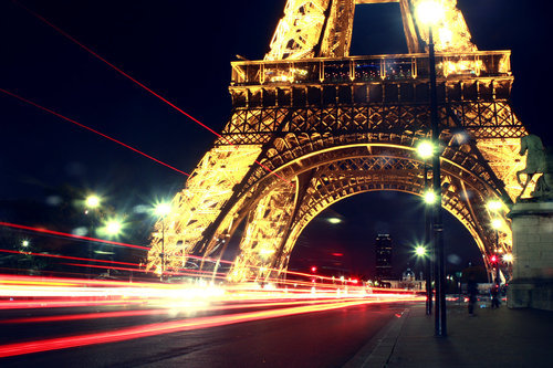 beautiful, city, eiffel tower, lights, night