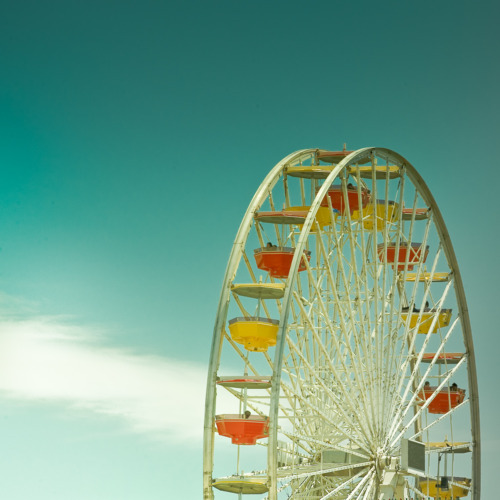 beautiful, colors, ferris wheel, paris wheel, photography, retro, sky, summer