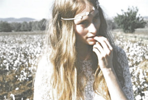 beautiful, field, flower, girl, hair, hippe, idnie, lace, long hair, model, photography, pretty