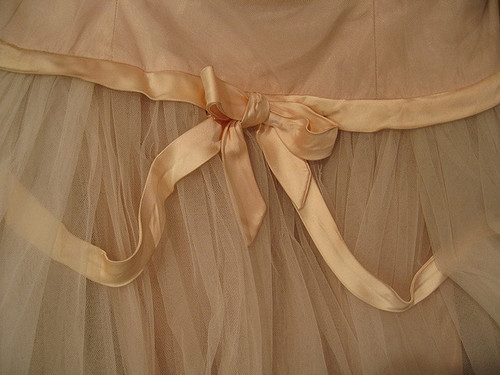 beige, bow, fashion, loop, orange