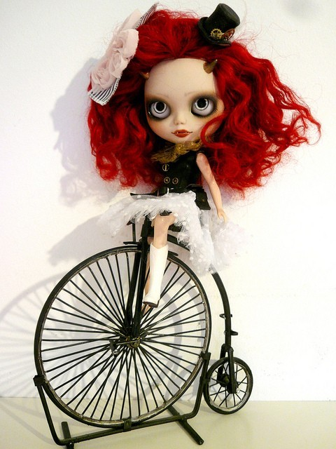 bicycle, blythe, doll, japanese, penny farthing