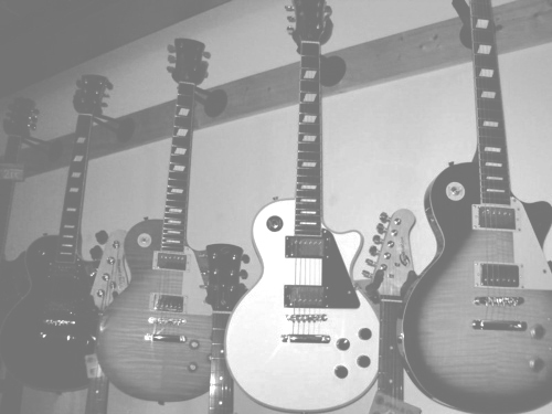 black and white, gibson, guitar, les paul