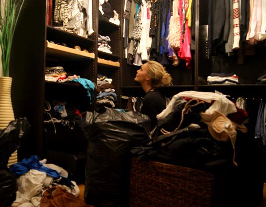 black, blond, closet, clothes, colour