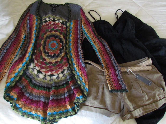 black, brown, clothes, clothing, colorful