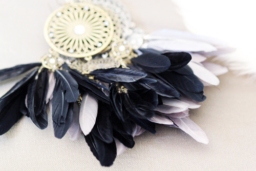 black, cute, earrings, faded, feathers