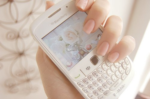 #blackberry, blackberry, cellphone, fashion, lovely, nail, pink, vintage, white blackberry