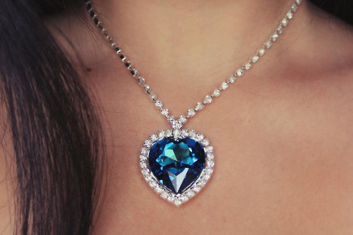 blue, coeur de la mer, collar, diamant, girl, titanic, woman, women