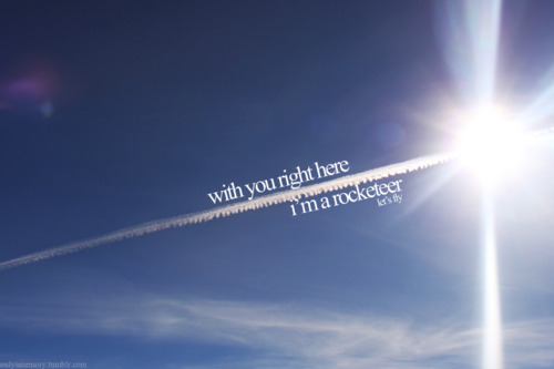 blue sky, clouds, earth, far east movement, fly, flying, fog, lyrics, rocketeer, sky, smoke, sun