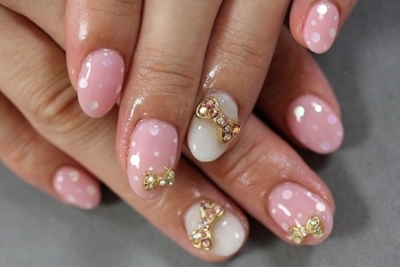 bows, gold, nailart, pastel, separate with comma