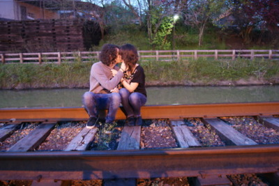 boy, cute, girl, kiss, love, nature