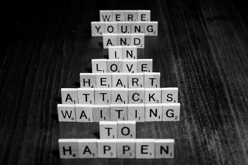 bring me the horizon, love, scrabble, text