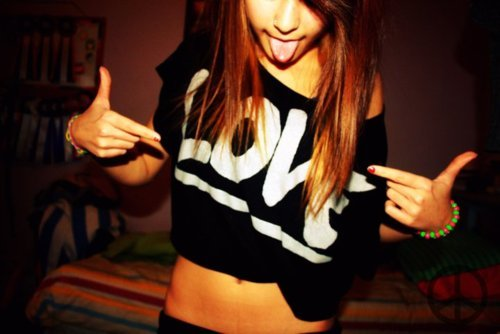 brunette, crop top, cute, fashion, girl, hands, love, pretty, shirt