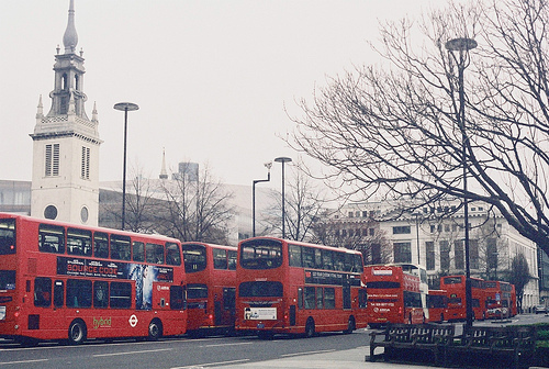 bus, london, photography, vintage