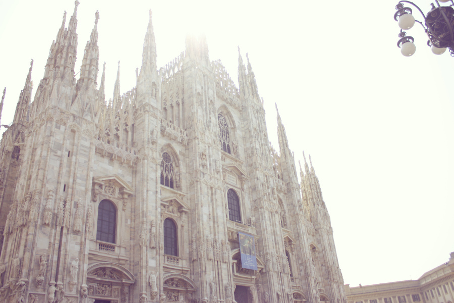 cathedral, church, duomo, light, milan