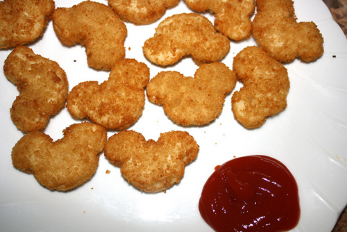 chicken nuggets, fashion, food, ketchup, mickey