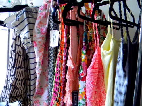 closet, clothes, color, fashion, print