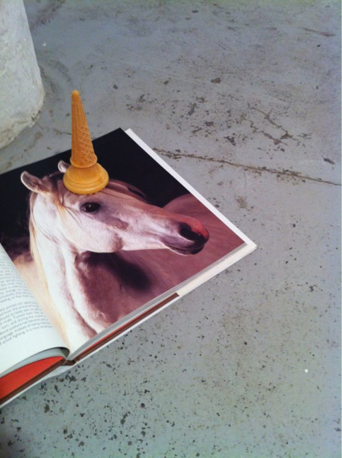 cone, cute, funny, horse, ice cream cone