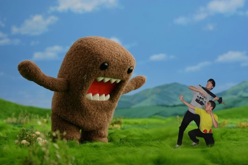 crazy, domo, domo kun, fun, guys