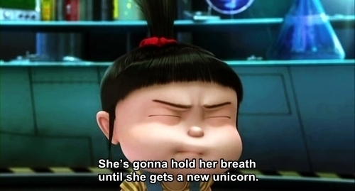 cute, despicable me, text, typography, unicorn