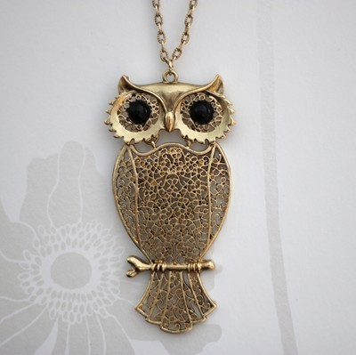 cute, fashion, gold, jewelery, love, necklace, owl, starbucks, style, weheartit