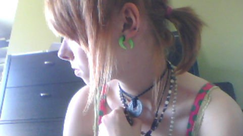 cute, gauges, girl, hair, indie
