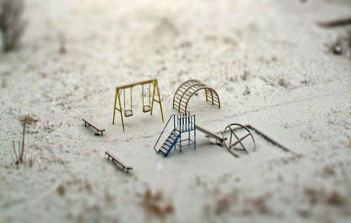 cute, mini, playground