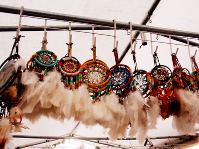 dreamcatchers, feathers, market